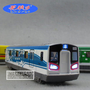 ousto optic version of real voice Diyaduo high-speed Metro alloy locomotive can open the door High-speed Rail model toys(China (Mainland))