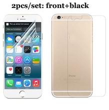 2pcs (1 Pcs Front +1 Pcs Back) HD clear screen protector for iPhone 6 (Screen 4.7) clear screen protective film screen guard