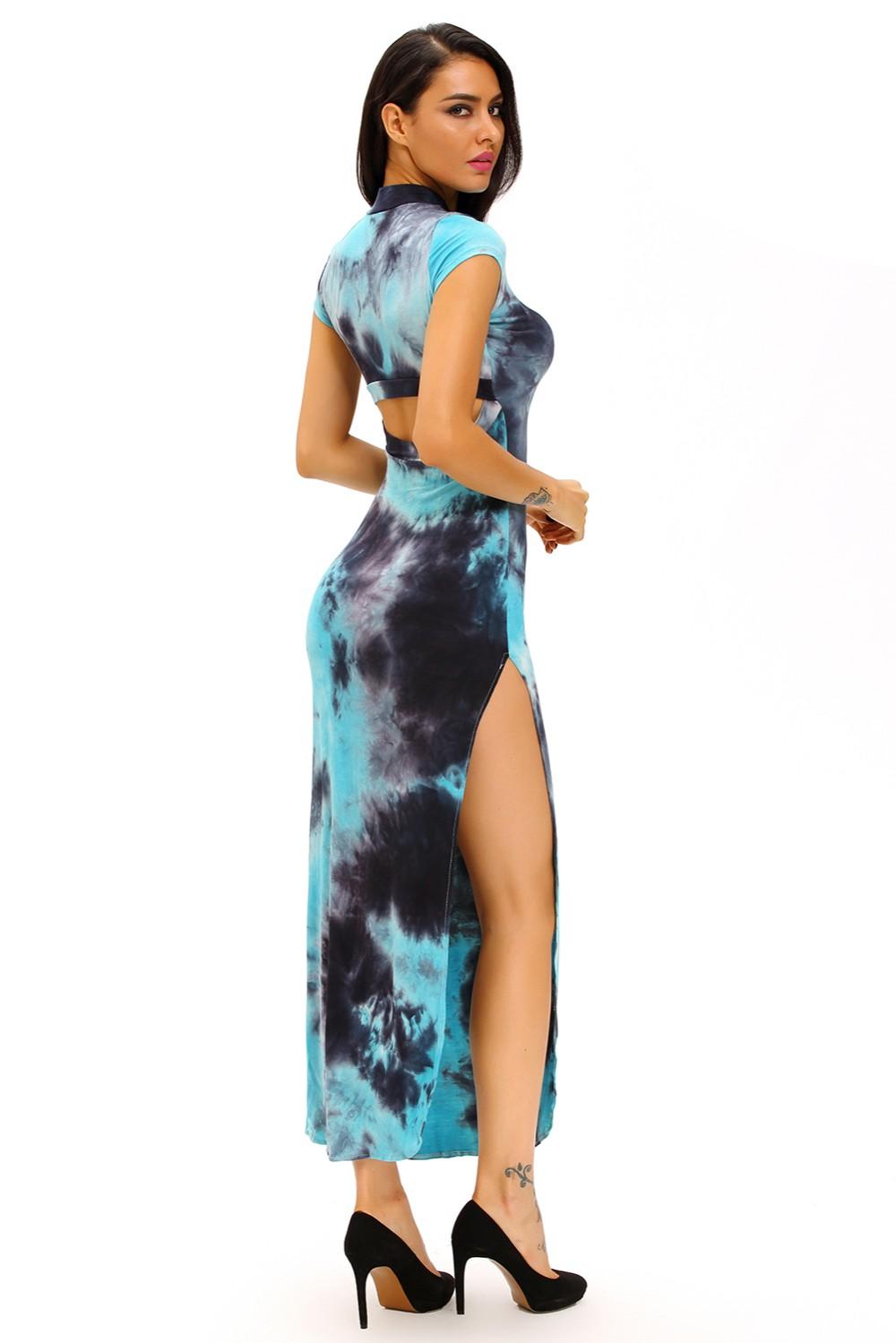 Bluish-Tie-Dye-Vintage-Short-Sleeve-Cheongsam-Dress-LC60955-4-8