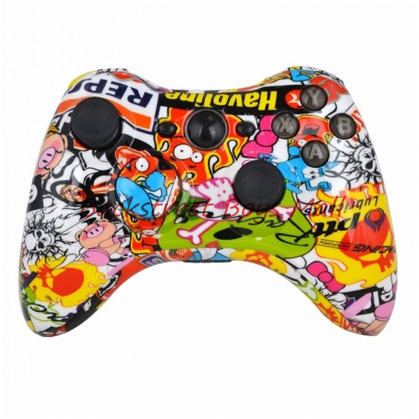 100% High Qaulity Custom Hydro Dipped Sticker Bomb Controller Shell for Xbox 360 Wireless Controller with Tools xb3017(China (Mainland))