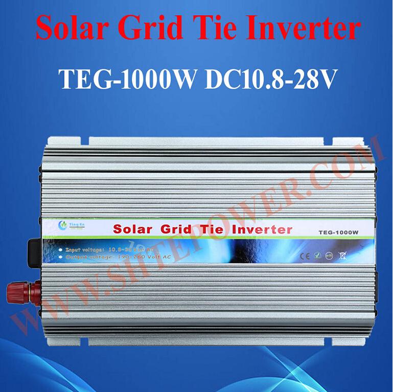 dc 10.8-30v to ac 110v 220v mppt control solar power grid tie inverter 1000w(China (Mainland))
