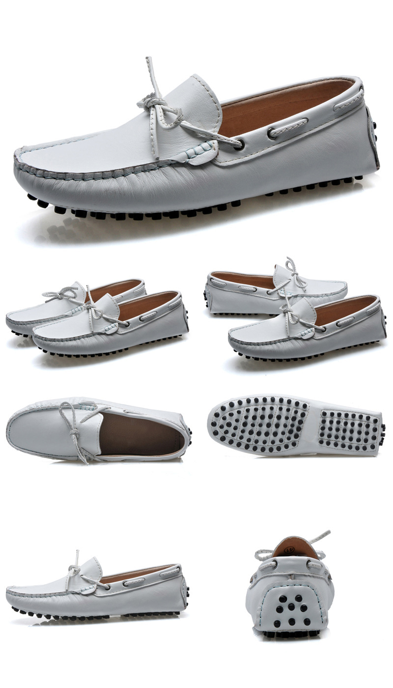 ซื้อ ใหม่ที่มีคุณภาพสูงแฟชั่นรองเท้าขับรถหนังแท้รองเท้าผู้หญิงรองเท้าแบนสบายๆรองเท้าผู้หญิงเตี้ยจัดส่งฟรี