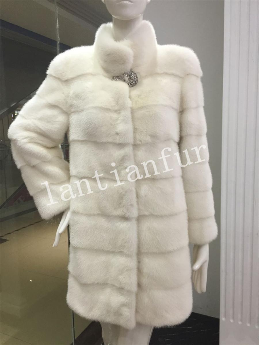 Womens Luxury Real Genuine Mink  Fur Coat  overcoat Warm Fur Pakas Outwear for Winter Одежда и ак�е��уары<br><br><br>Aliexpress