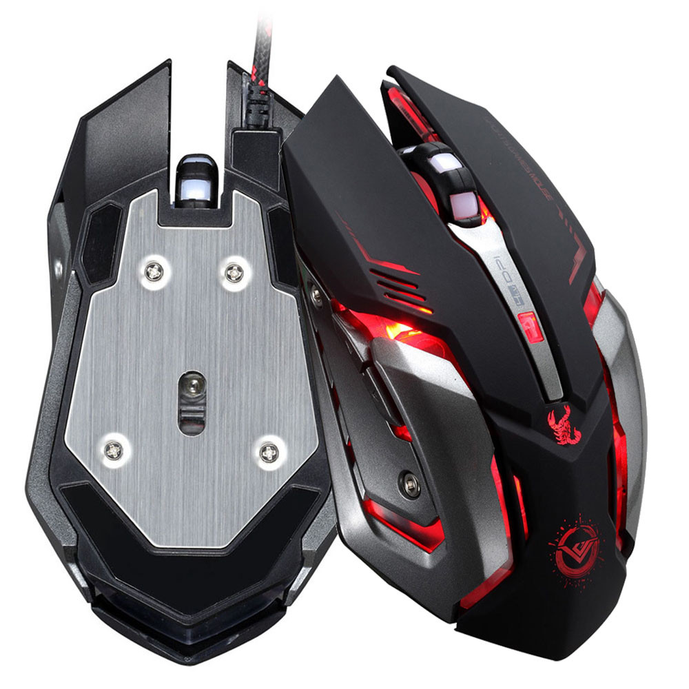 2016 Games Mouse Series 3500 DPI 6 Button Optical Custom Macros USB Wired Gaming Steel Mouse Mice Ajustable DPI Mouse SHENSEE(China (Mainland))