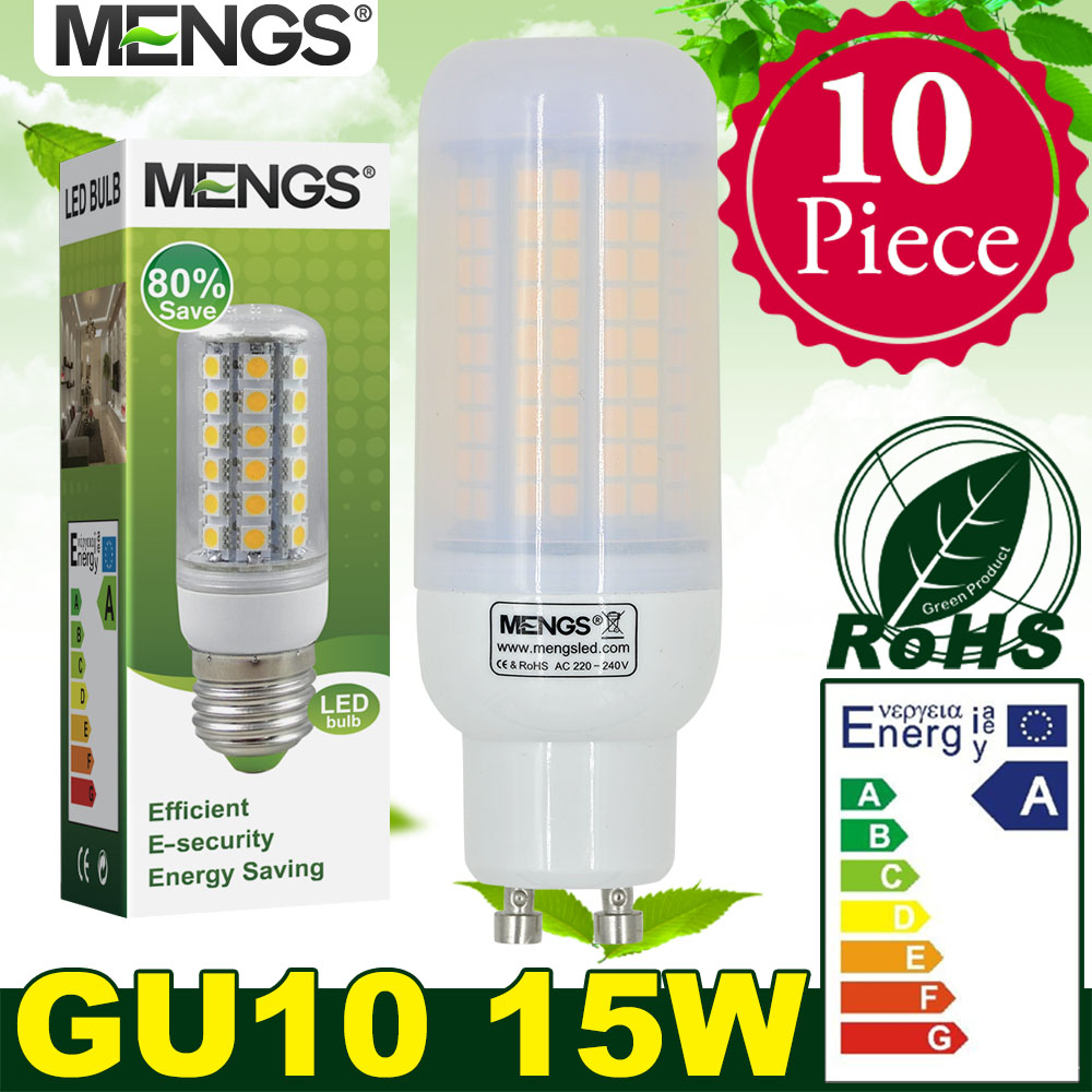 MENGS 10Pcs per pack GU10 15W LED Corn Light 180x 2835 SMD in Warm White / Cool White Energy-saving Lamp<br><br>Aliexpress