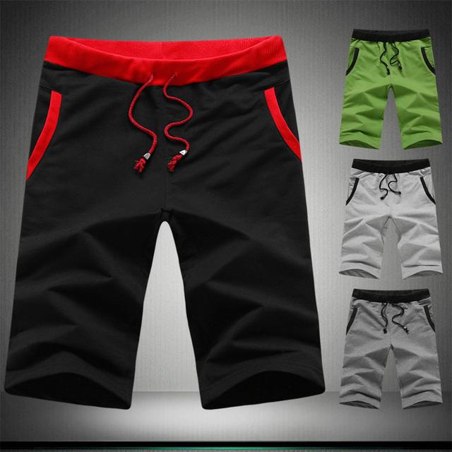 Новые мужские повседневная мода сплошной цвет шорты летние пляжные шорты для мужчин, ...