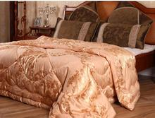 winter wool quilt bedding insert gold super king comforter blanket wool size 220*240(China (Mainland))
