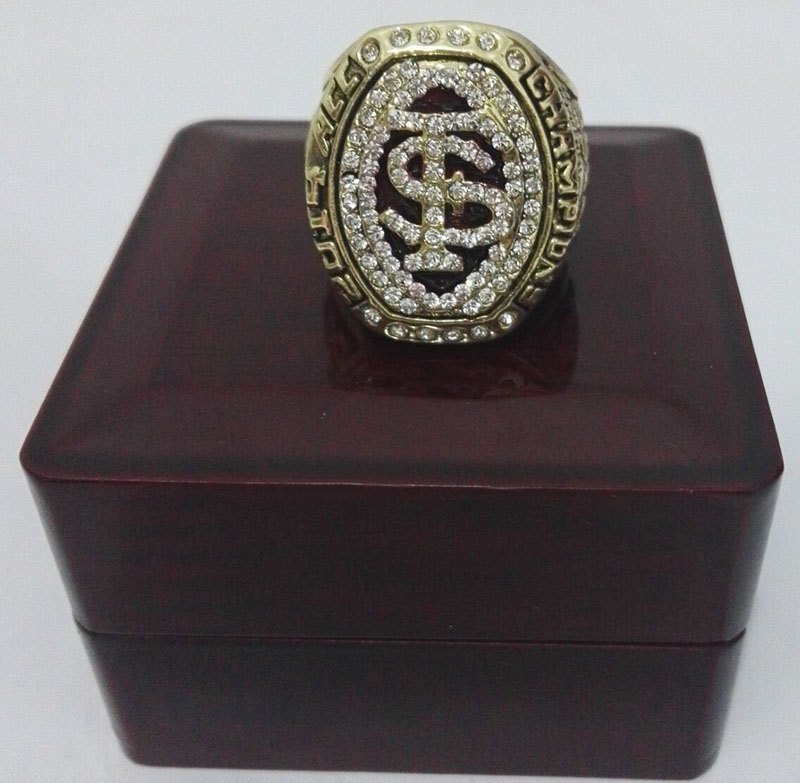 2014 Florida State FSU Seminoles ACC National Zinc Alloy 18K gold plated Custom Sports Fans Championship Ring With Wooden Boxes(China (Mainland))