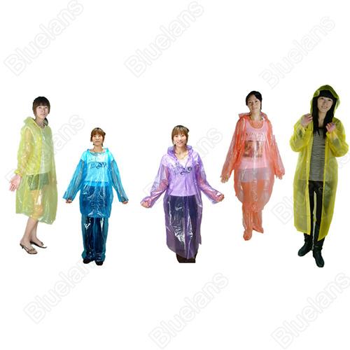 2pc Disposable Raincoat Adult Emergency Waterproof Hood Poncho Travel Camping Must Rain Coat Unisex 1J4U(China (Mainland))