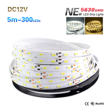 High Bright Led Strip Light SMD 5630 5M 300led Flexible Led String Light DC12V Led Tape Bar Light Lamp Indoor Home Decoration(China (Mainland))