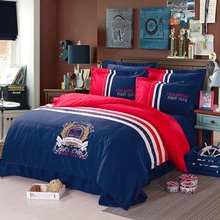 100% cotton  champion boys / girls bedding set 3d bed linen with duvet cover / bed sheet / pillow cases king / queen size(China (Mainland))