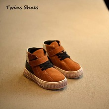 2015 autumn winter boys high top sneakers baby for children leather sneakers toddler shoes sneakers brand girls boots kids(China (Mainland))