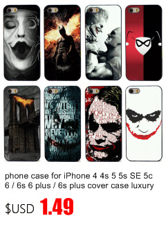 phone case for iPhone 4 4s 5 5s SE 5c 6 / 6s 6 plus / 6s plus cover case luxury black plastic hard shell beautiful scenery text