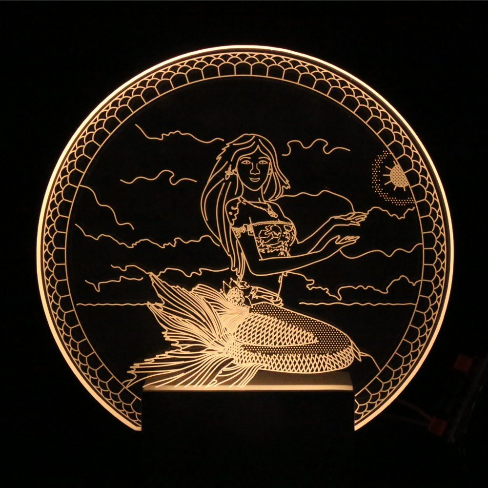 Mermaid table lamp - Mermaid Table Lamp
