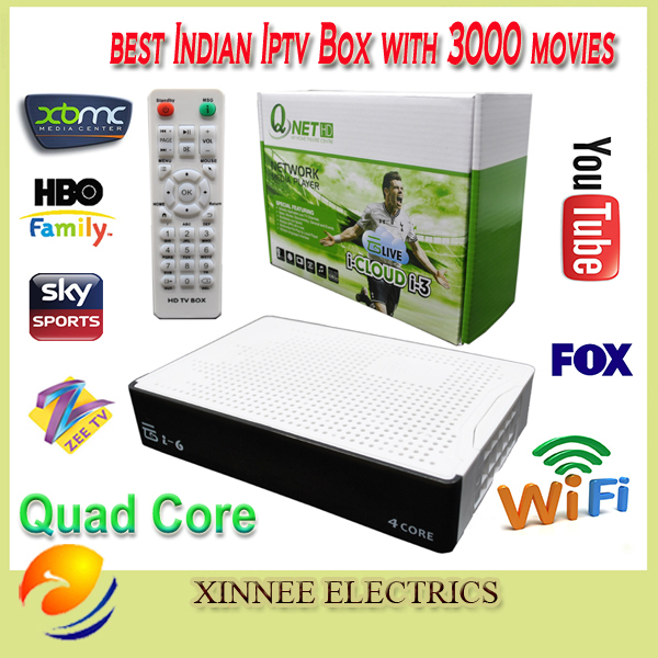 HD Indian IPTV BOX support Indian Live TV Channels with English channels internet TV box Android Indian IPTV Box(China (Mainland))