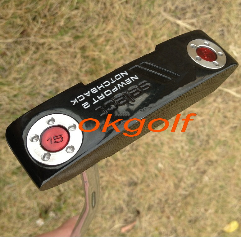 2014 new golf clubs custom putter Select Newport 2 Notchback black color with 15g weights high quality golf putter(China (Mainland))