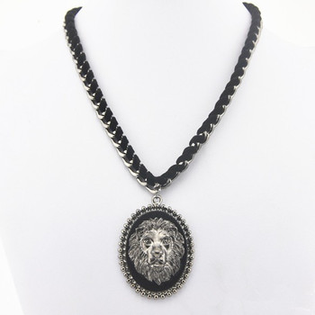 Free Shipping  Europe and America Big brand Fashion acceesories hot sale,vintage statement lion necklace  chain for women