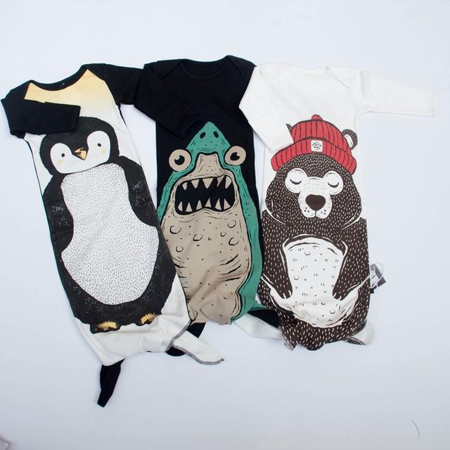 KIKIKIDS Baby Boy & Девочек 0-2Y Пингвин/Медведь/Красоты Спальные Мешки, детские ...