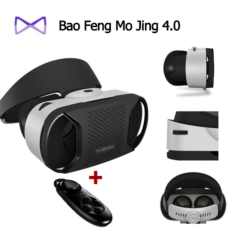 100% original Google cardboard Baofeng Mojing IIII for android VR Virtual Reality Glasses + Bluetooth Wireless Mouse  / Gamepad<br><br>Aliexpress