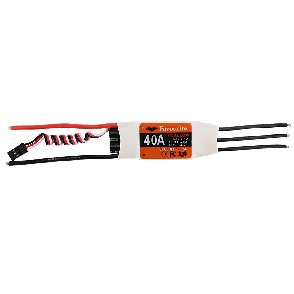 Sea Swallow 40A 2-6S LiPo Battery Brushless Motor Electronic Speed Controller ESC&Switch Mode 5V/5A SBEC for Airplane Fixed Wing(China (Mainland))