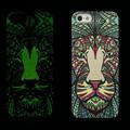Luminous Embossed Feel Aztec Animal Elephant Chimpanzee Cat Deer Phone Funda Case for iPhone 5S 6