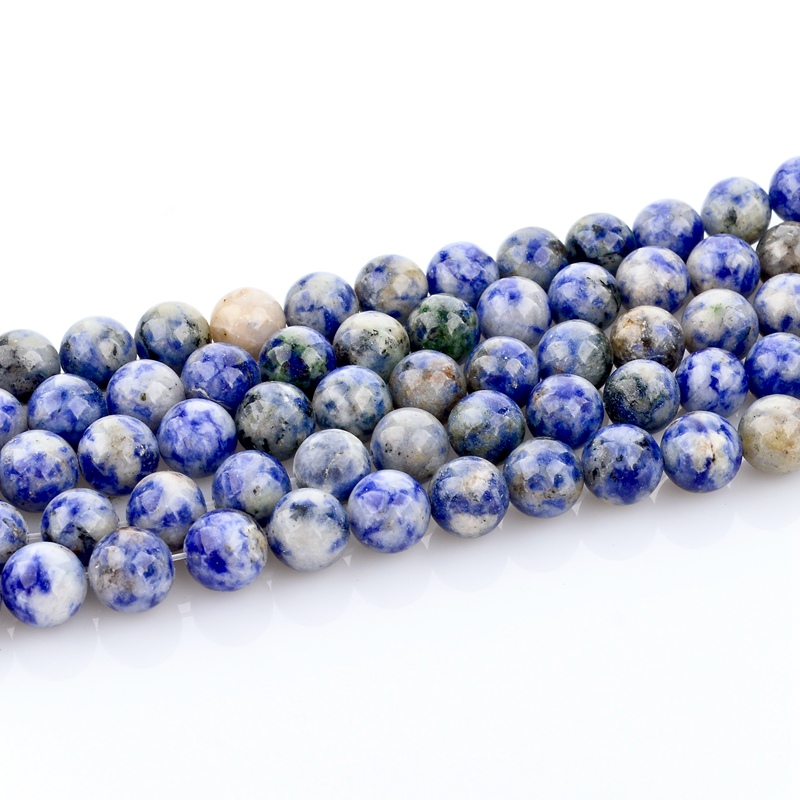 8 MM Blue DIY Natural Stone Round Loose Beads for Making Jewelry Strand E45-RD-8mm(China (Mainland))
