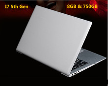 I7 5th Gen laptop ordinateur portable computer 8GB RAM 750GB 1920*1080 HD screen aluminium I7 notebook(China (Mainland))