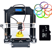 2016 Updated LCD High Precision Reprap Prusa i3 DIY 3d Printer kit with Marlin Firmware Repetier 25M Filament 8G SD card