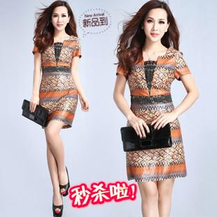 Quality 2013 women's organza silk one-piece dress fashion slim one-piece dress