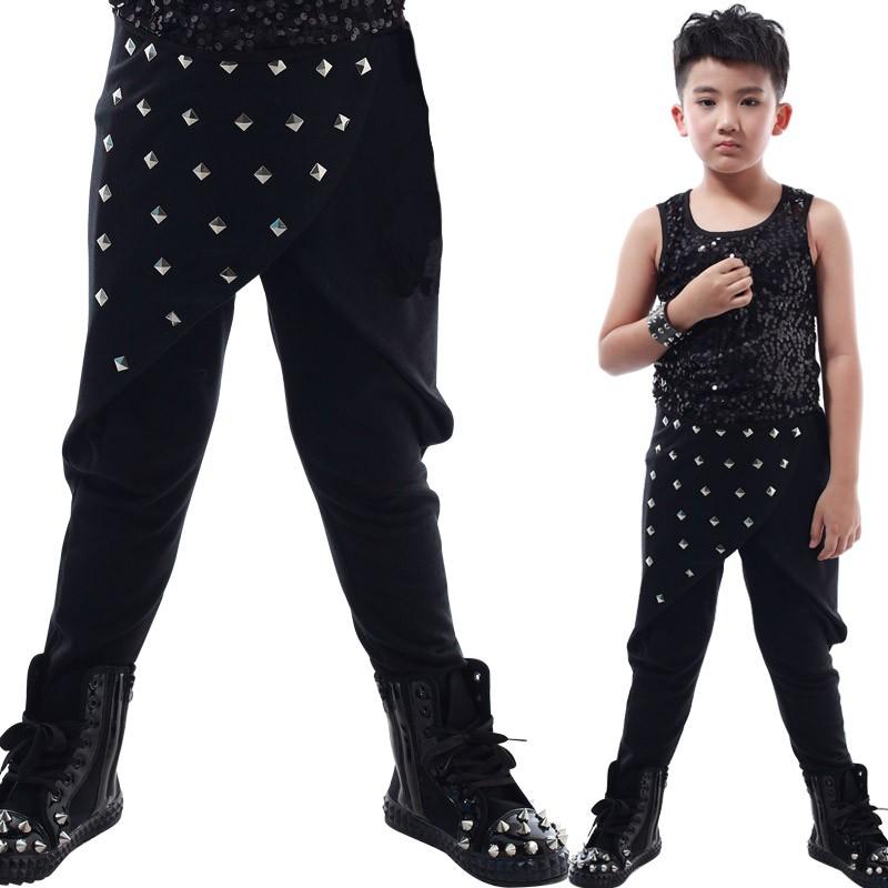 Скидки на Мальчики Девочки Шаровары мода стиль сценическое хлопка детские брюки полная длина модные эластичный пояс детские брюки