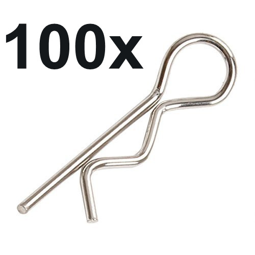 100pcs Universal 1/5th Scale Large Body Clips RC Car Parts Truck Replacement For R Pins HPI Baja Losi 5ive Ofna Redcat HSP Baja(China (Mainland))
