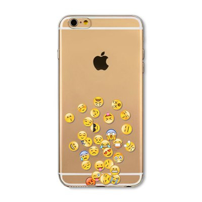 Transparent Emoji Floral Monkey Puppy Dog Case For iPhone 6 6s 6Plus 6s Plus 5 5s 5C 4 4s Clear Soft TPU Funny Protctive Funda