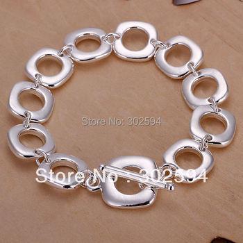 H106 красивая элегантный 925 чистое серебро подвески квадрат браслет великолепная ...