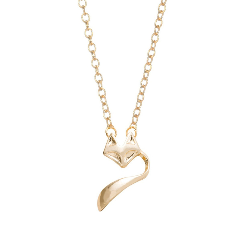 Min 1pc Fashion Jewelry Gold and Silver Fox Tale Necklace Pendant Necklace XL047