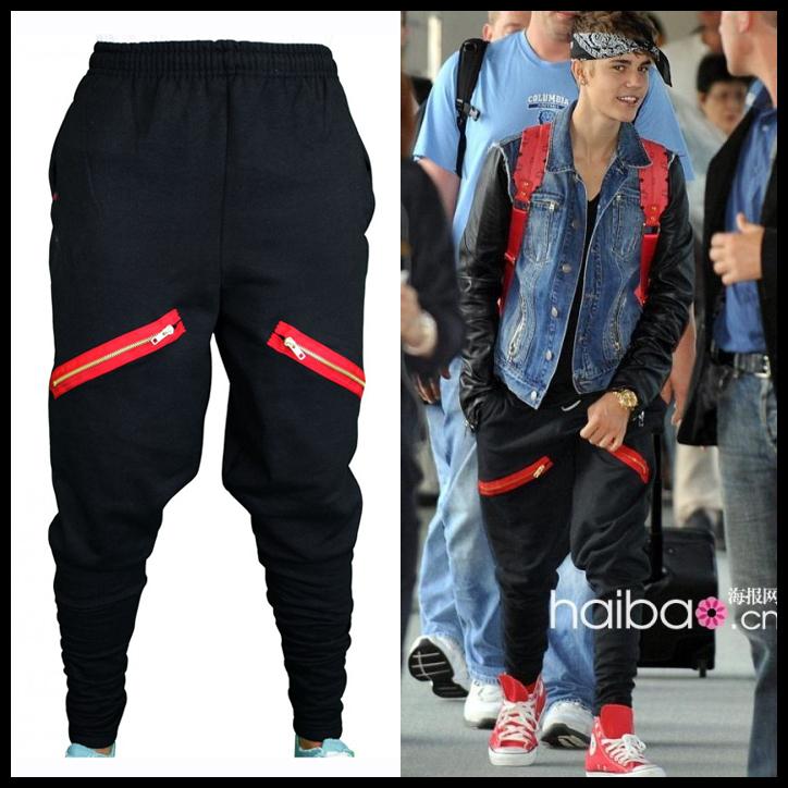 Justin Bieber Brand squirrel pants men Harem hip hop pants ...