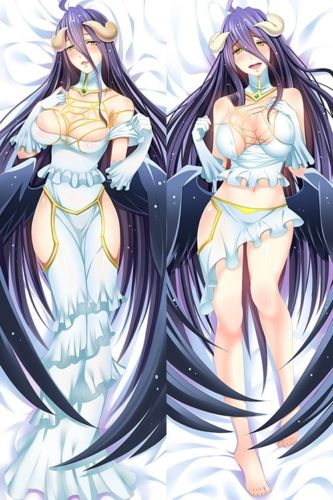 NEW Anime Dakimakura Game Overlord Albedo Pillow Case Cover Otaku Hugging Body
