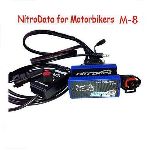 OBDDIY Nitrodata box M-8 Nitro data power box for Motorcycle M8 Motorbikers chip tuning tool Free Ship(China (Mainland))