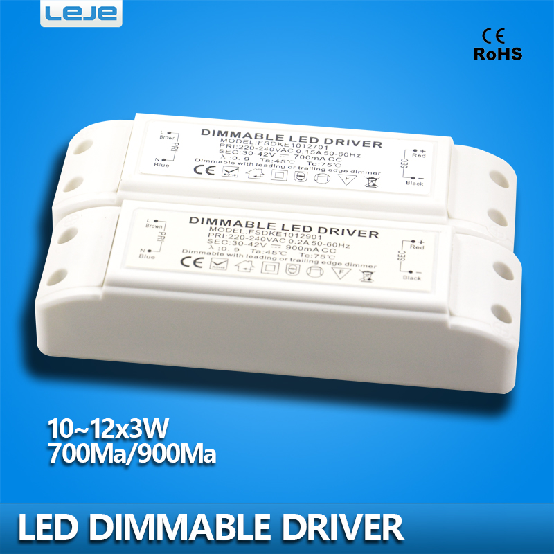 Dimmable LED Driver dimming LED power supply 700ma 900ma 10W 11W 12W led lighting transformer downlight lamp spotlight driver(China (Mainland))