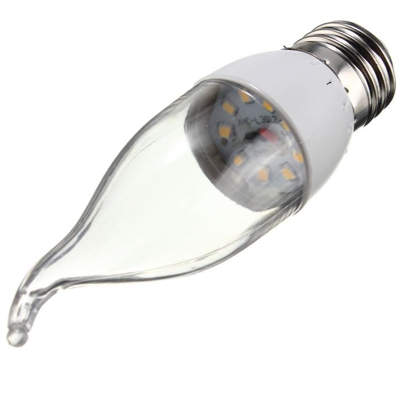 High Quality 3W E27 E14 B22 Base 9 SMD 2835 LED Flame Light Lamp Bulb Pure Warm White Energy Saving AC220V 150Lumen(China (Mainland))