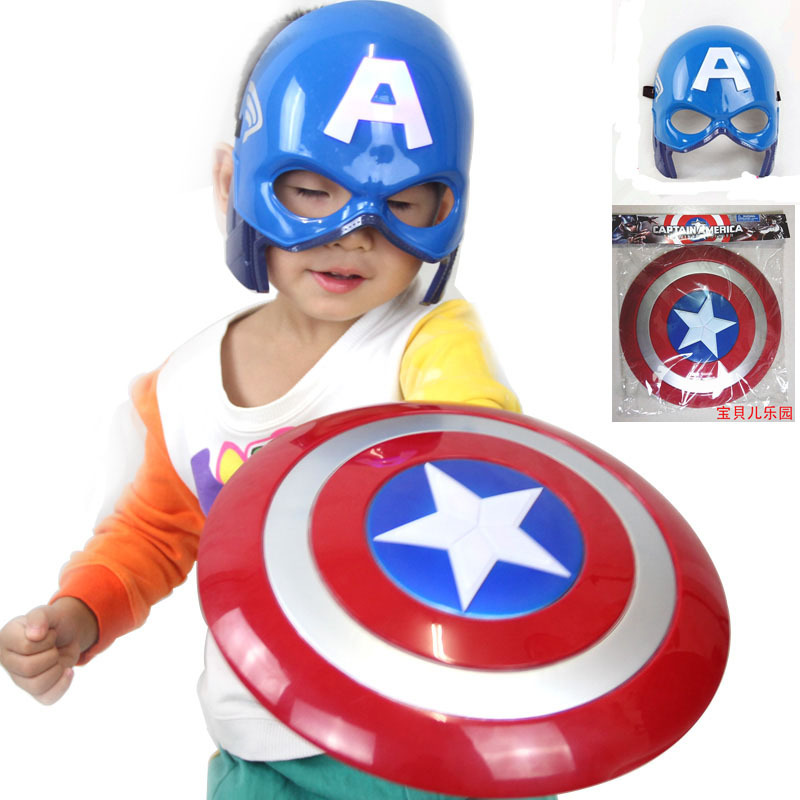 Гаджет  2015 FS The Avengers Captain America Hero The Winter Soloier Shield Light-Emitting 32cm + Captain Mask Cosplay Boys Toy 50% Off None Игрушки и Хобби