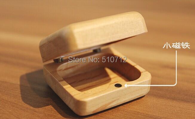 2014 free shipping Mini handicraft wood made / ring box / Earring Box / small jewelry box small gift(China (Mainland))