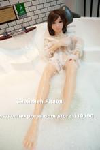 125cm Top quality japanese silicone love doll metal skeleton sex doll full silicone life size masturbator