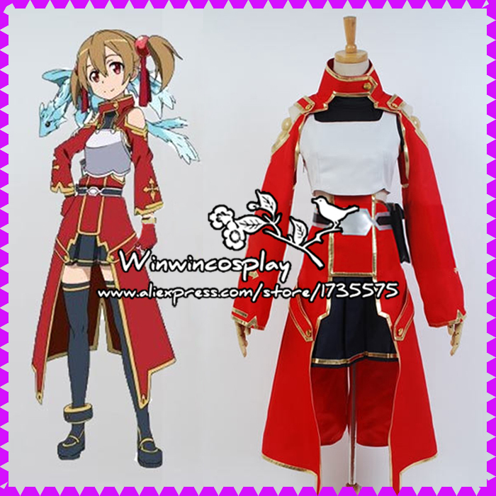 Hot Sale Sword Art Online SAO/ALO Shirika Cosplay Costume SAO Shirika Cosplay Costume Halloween Costume Custom Made Any Size(China (Mainland))