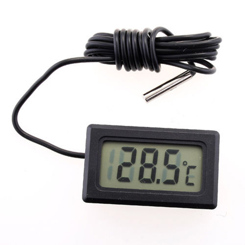Black LCD Electronic Fish Tank Water Detector Thermometer Aquarium Digital Thermograph<br><br>Aliexpress