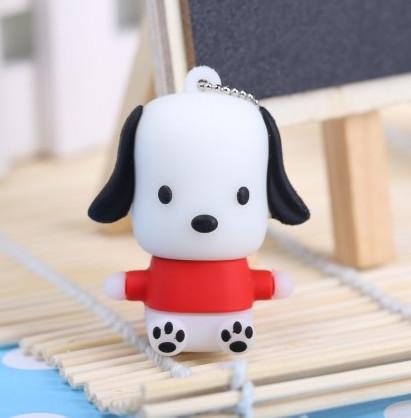 100% real capacity 4 colors cute puppy pen drive animal dog usb flash drive pendrives 4GB 8GB 16GB memory stick free shipping(China (Mainland))