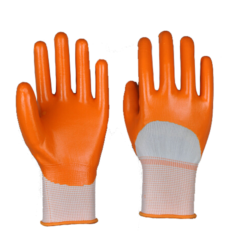 13Gauge Seamless Polyester Coated Industrial Nitrile Glove Protective Gloves(China (Mainland))