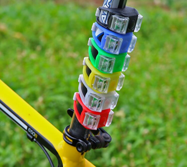 Mountain Bike Bicycle Light Silicone Head Rear Tail Taillight Safety Flash Flashlight Bike Light LED(China (Mainland))