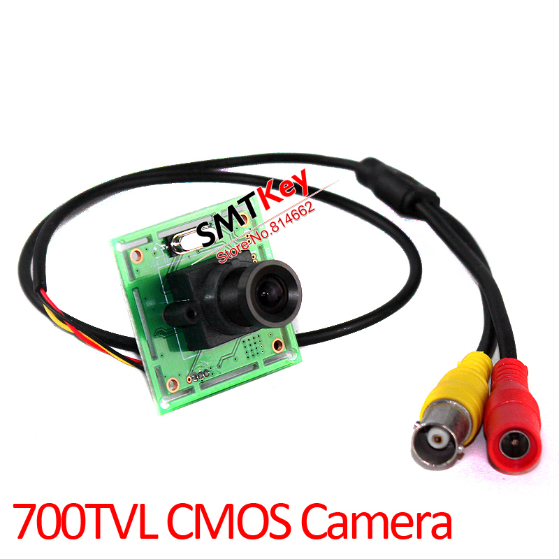 7030 700tvl CMOS color hd board cctv camera cctv mini camera with 3.6mm lens with lens mount with cable(China (Mainland))