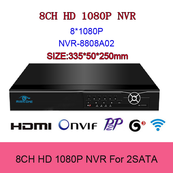 8 channel 1080P Support Smart Phone and Onvif NVR P2P Cloud MAX 8TB 2HDD 8CH NVR 1.25U Network Video Recorder HDMI/VGA Output(China (Mainland))