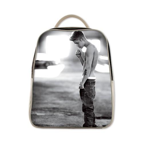 2015 New Arrvial Justin Bieber Custom Backpack Schoolbag Students 6 Color